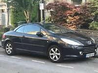 2006 Peugeot 307cc 180bhp 2.0L black hard top convertible - Quick sale for the Summer £850
