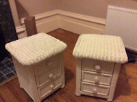 2 matching bedside cabinets - 18 inches Sq and 23 inches high