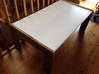 Coffee table, melamine top, easy wipe clean, ideal as children' play table