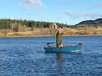 CUSTOM HANDMADE FLAT BOTTOMED FLY FISHING BOATS