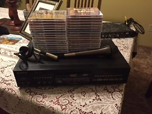 Sunfly Pro 8 DVD/MP3 Karaoke Machine + 31 DVDs, & accessories St. John's Newfoundland image 1