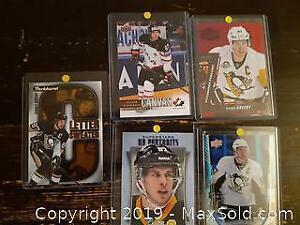 5 Hockey Card Inserts of Sidney Crosby