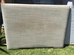 Grey queens bed head board Macquarie Links Campbelltown Area Preview