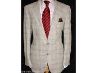 Christian Dior Mens Check Tweed Jacket *Size 44R* (ORIGINAL)