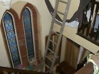 LONG WOODEN LADDER - 14 STEPS ABOUT 12FT - CLACTON ON SEA CO15 6AJ