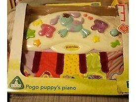 ELC pogo puppy's piano, ideal cot toy. Fabulous condition. Still have the box