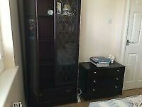 BARGAIN! Elegant Wood Glass Bookcase / Book Shelf / Display Cabinet