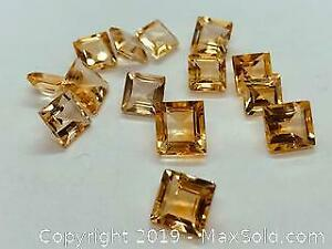 14 Square Brazilian Citrine tcw 26ct