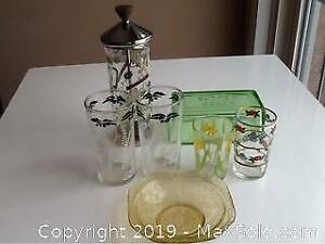 Vintage Glass And Depression Glass