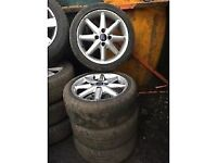 ford fiesta 2010 X4 ALLOY WHEELS WITH 195/45R16 TYRES