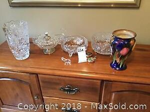 Collection of crystal Bowls and Vases A