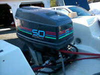 50 HP Force 2 stroke out board with controls