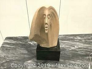 Signed bust of female head