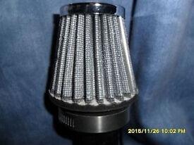 k n sports air filter 54/55 mm 2 1/2 chrome