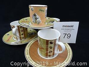 Royal Doulton Demitasse Espresso Cups and Saucers -- Set of 6