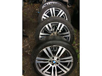 bmw e70 x5 alloy wheels set x4 with tyres 20inch msport lci call