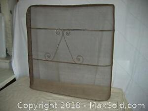 Antique Wire Fireplace Screen A