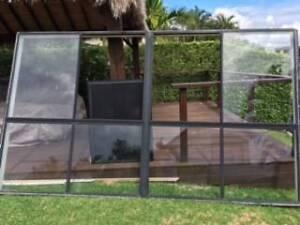 BLACK ALUMINIUM WINDOW - 2100MM X 3600MM Helensvale Gold Coast North Preview
