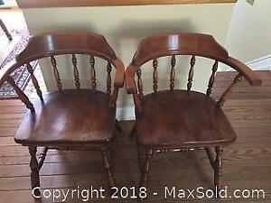 2 Vintage Captains Chairs B