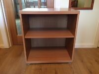 Oak Veneer Floor Shelf Unit