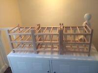 3 wooden ikea wine racks