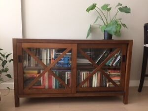 Canvas solid wood bookcase for sale