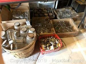 Mason Jars In Wooden Crates A