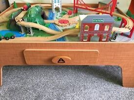 ELC Wooden Train And Car Play Table