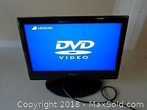 "19"" Insignia LCD Colour TV / DVD Video Player"