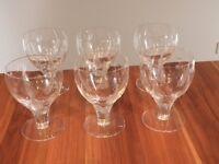 Stuart crystal woodchester spot leaf goblets