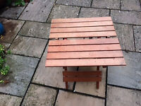 Small Wooden Folding Garden Table