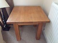 Solid oak coffee/lamp/side table