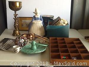 Lot Of Vintage Items In A Box