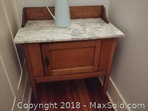 Antique Marble Top Wash Stand B