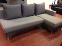 Bargain! –corner sofa bed-fabric-very good quality-delivery available!