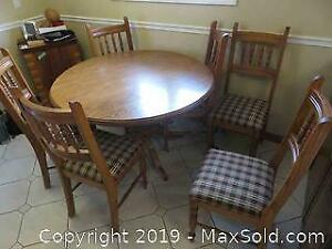 Oak Kitchen Table With 6 Chairs - C