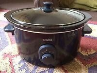 Slow Cooker. Breville 4.5L, Black. Glass Lid. Great Condition.
