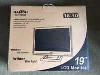 19 INCH LCD monitor - Brand new still in box