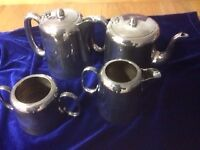 Plated Nickel Silver Tea Pot, Coffee Pot, Milk and Sugar