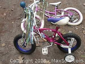 2 Girls Bikes and 1 Scooter - B