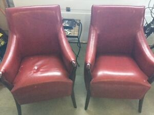 Two Leather Chairs, Slightly Damaged Windsor Region Ontario image 1