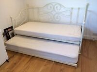 ikea sofa bed, metal frame and pull out metal frame single bed under
