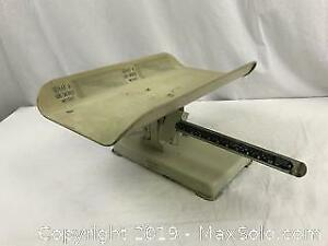 Antique Stork Baby Weigh Scale
