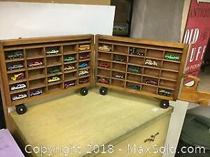 Wooden Mini Car Holder With Cars