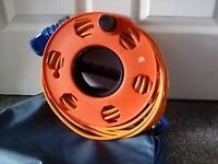Caravan Electrical Hook Up Lead 25m. This comes on a reel and has a storage bag - Good Condition