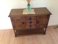 Credence Hall Cupboard manufactured by Olde Court Furniture in Cromwell Light Oak