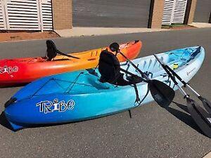 Red/Orange Perception Tribe 9.5 Sit on-top Kayak