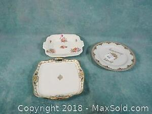 Platters - Coalport and Early Nippon Gold relief