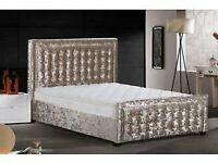 Double Bed/ King Size Bed Top quality Crushed Velvet Bed Frame Brandnew in the box Can Deliver