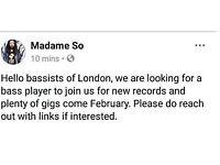 Hello bassists of London!